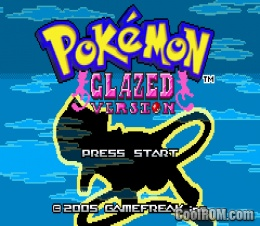 Pokemon Glazed Intro Screen
