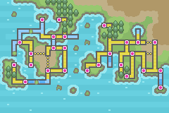 Pokemon Glazed World Map